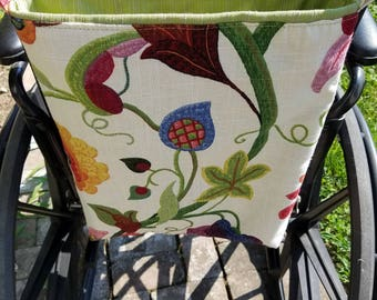Floral Wheelchair Bag, Senior Tote, Floral Tote,