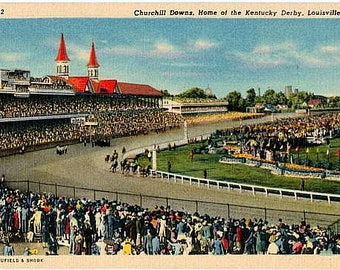 Vintage Kentucky Postcard - Churchill Downs, Home of the Kentucky Derby, Louisville (Unused)