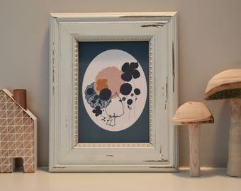 Bird illustration print,Home Decor art, House warming gift