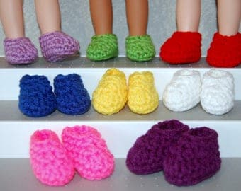 """Slippers One Pair your choice - fits 14"""" Wellie Wishers Mine to Love  tkct1137"""