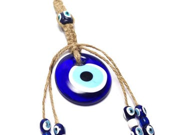 Evil eye Wall Hanging - Protection & Good Luck - Home decoration - Greek souvenir - Greece - gift - Macrame