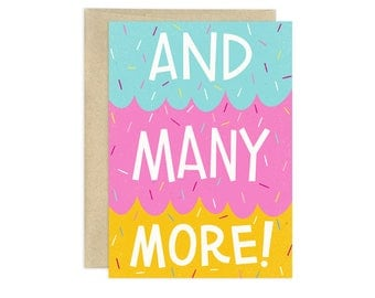 And Many More Illustrated Greeting Card, Multi Color