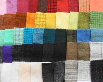 Teinte de vente à la main en laine feutrée des chutes lot numéro 1301 quilting Acres