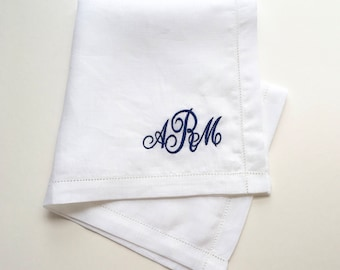 Mens pocket square - handkerchief - white irish linen - weddings - father of the bride - grooms gift