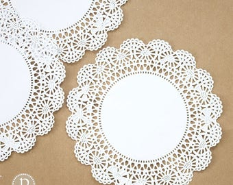 """10"""" Hoffmaster White Round Paper Doilies"""