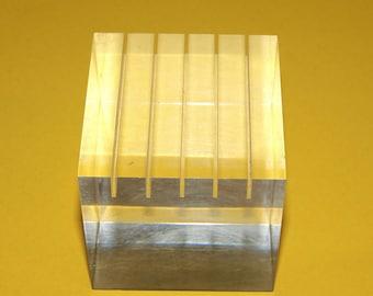 Grooved Plexiglass Mid Century Modern accent