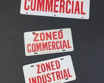 VINTAGE METAL SIGNS, Vintage Signage, Real Estate Signs, Industrial Decor, Commercial, 3 Signs Sold Separately at A Vintage Revolution