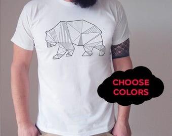 Bear Tshirt  Custom Tshirt Custom Shirts Custom Tshirts Mens Custom Tshirts Customize Your Own Mens personalized Mens gift Mens Tshirt