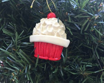 New for 2017... personalized original cupcake ornament, bakery ornament, cupcakes