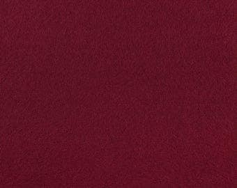"Burgundy Acrylic Craft Felt by the Yard - 1/16"" Thick, Available Plain (72"" Wide) or with a Peel-and-Stick Adhesive Backing (36"" Wide)"
