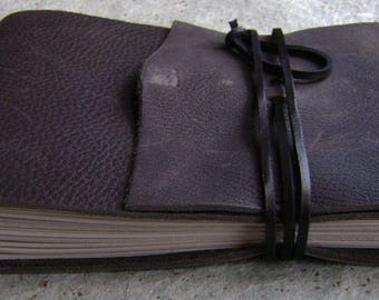 """Rustic guest book / sketchbook / journal, approx. 5.5""""x 8.25"""", distressed charcoal grey, landscape journal (2597)"""