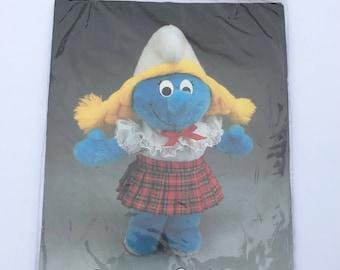 Vintage NOS Smurfette Wardrobe Plaid Skirt and Blouse Fits Floppy Smurf Plush #642