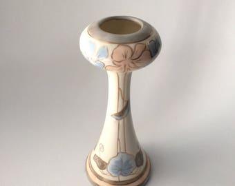 Art Nouveau Bud Vase or Hatpin Holder, Porcelain Painted
