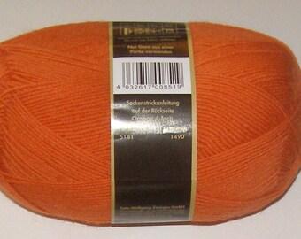 Opal Sock Yarn Uni Solid, 100g/465 yds, #5181 Orange