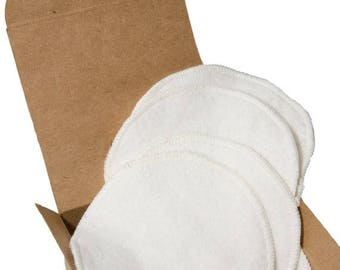 On Sale Hooter Soothers - Washable Nursing Pads - Organic Bamboo Fleece - Ultra soft & absorbant - 2 pair
