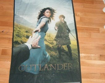 Fabric Wall Hanging Panel Cheater Quilt Outlander Party Decor Door Art Let Magic Begin Movie Book Time Travel Diana Gabaldon British America
