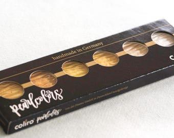 Fintec Metallic Gold Ink Palette / Set of Gold Calligraphy Inks