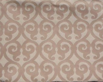 "Classic Scroll Jacquard Print Fabric Remnant,105"" x 8.5"",Cotton, Polyester,Greenhouse Fabric,Upholstery,Bags,Craft Use.Free Shipping."