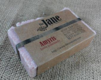 Amyris Sea Salt Soap - Love Intensely - Rustic Hot Process Soap