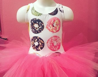 Donut leotard tutu dress dance dress 3t Doughnut