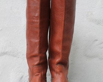 SPRING SALE Frye Boots Tall Leather Boots Campus Boots Womens 6.5 Campus Boots Vintage Frye Boots, Motorcycle Boots UK 4 Eu 37 Boho Boots, F
