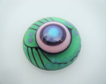 Moogin Beads - Bright abstract lampwork glass CABOCHON - 20mm - SRA
