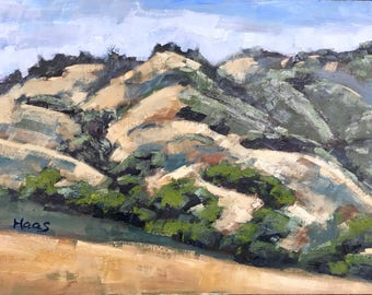 MOUNT DIABLO - 12 x 16 - Contra Costa - Walnut Creek - Curry Point - Original Oil Painting - Plein Air - California Landscape - Golden Hills