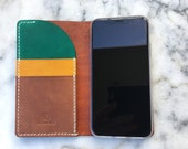 Leather iPhone X wallet, Leather iPhone  8 wallet, Handmade iPhone 8, iPhone 8 Plus, Leather phone case