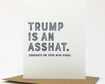 forty-five. asshat. letterpress card. #995
