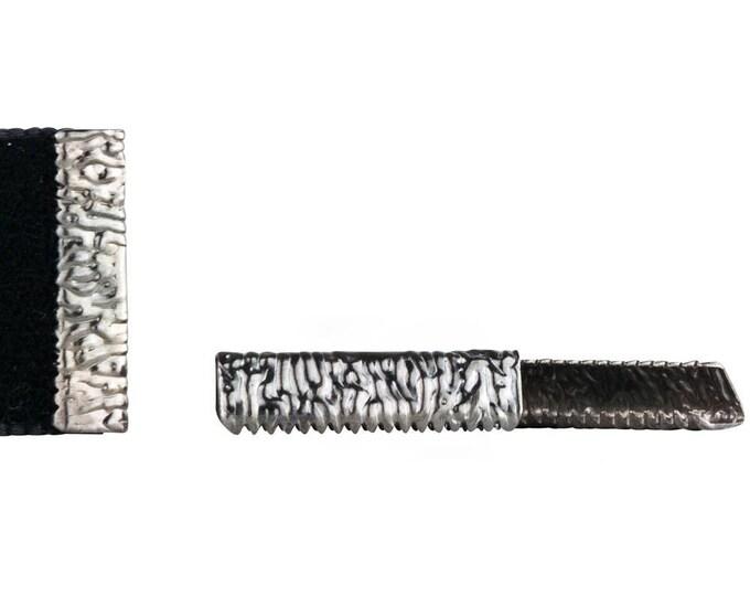 50pcs. 22mm or 7/8 inch Gunmetal No Loop Ribbon Clamp End Crimps - Artisan Series