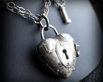Padlock Heart Locket