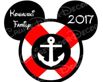 Disney Cruise Mickey Lifesaver Buoy- Personalized Digital Download