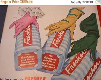 ON SALE Vintage Ad - - Fresh Bread - - 1950s original ad - Put on Your Best Gloves