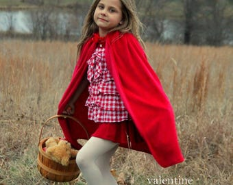 New hooded princess snow white Little Red riding hood Inspired Costume  soft cape girl toddler baby dress up 12-24 months