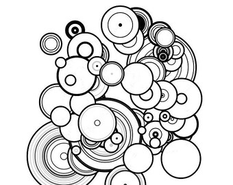 Downloadable Adult Coloring Page Generative Flowers Math