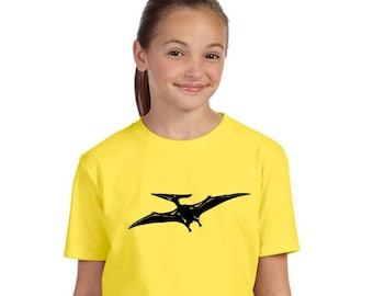 Pteranodon tshirt, Dinosaur Shirt, Pterodactyl Shirt Unisex Children's Clothing, Soft Cotton Crewneck, Short Sleeved Top, Prehistoric Animal