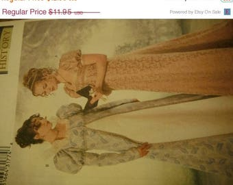 Costume Pattern SALE Gorgeous Historical Gowns--Multi sizes 6-10--UNCUT Patterns -- 40-70% off Patterns n Books SALE