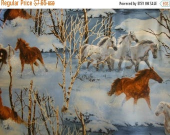 Horses Running in the Snow Fabrics--Gorgeous