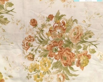 Vintage Yellow and Orange Floral Fitted Sheet