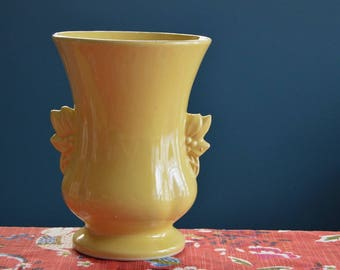 Vintage Large Yellow McCoy Pottery Vase