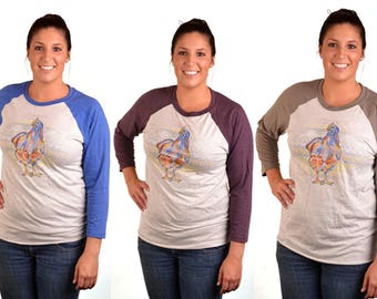 Chicken Baseball Tee - Livestock, Poultry, Show