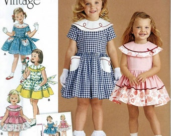 TODDLERS' & CHILD'S Dress by Simplicity 8062, Sizes 1/2-3 uncut