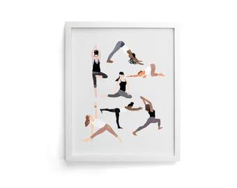 Yoga 8x10 Print