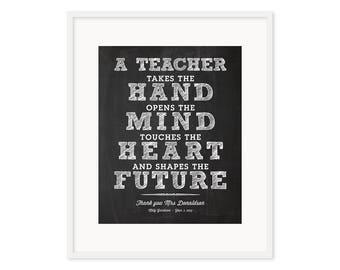 Personlized Teacher Print