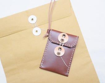 Ho-Ho-Sew Genuine Leather Vertical Badge ID Card Holder Card Case DIY Kit