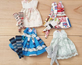 Lot of 4 set Neo Blythe Dresses and Socks