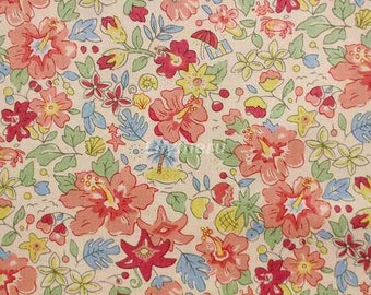 Liberty tana lawn printed in Japan - Aloha Betsy - Peach  mix