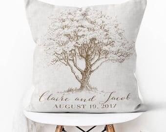 Cotton Anniversary Gift Wedding Gift Pillow Cover Personalized Wedding Pillow Cover Cotton Anniversary Gift Pillow Cover