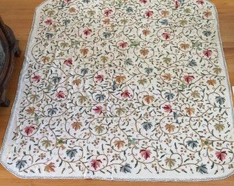 Vintage Embroidered Bedspread ~ Cover