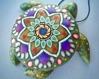 Sea Turtle Decor, Keepsake Box, Jade Box, Polymer Clay, Turtle Art, Handmade Box, Home Decor, Turtle Wall Decor, Secret Compartment